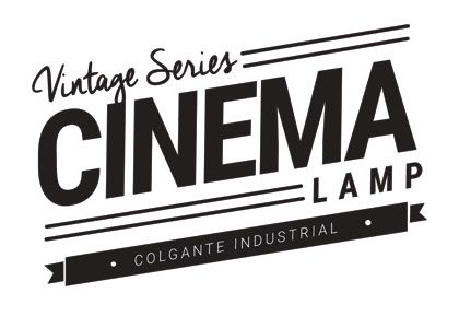 Lámpara Vintage Cinema Carril Industrial
