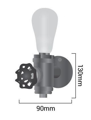 Medidas lampara indutrial de tuberia