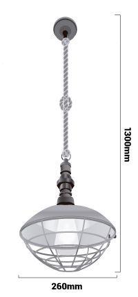 Medidas lampara e27 vintage