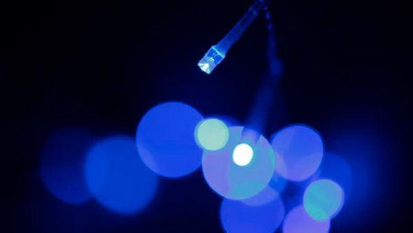 guirnalda cadena luminosa de led azul