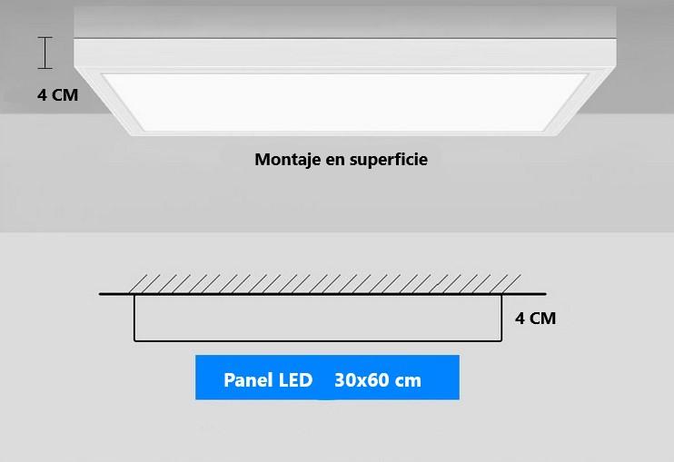 PLAFON PAINEL LED DE SUPERFÍCIE 60X30CM 24W 2150 LUMENS PARA A SUA SALA