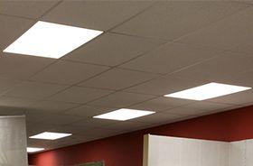iluminacion con paneles led en salas, oficinas y despachos