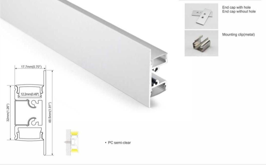 perfil aluminio tira led