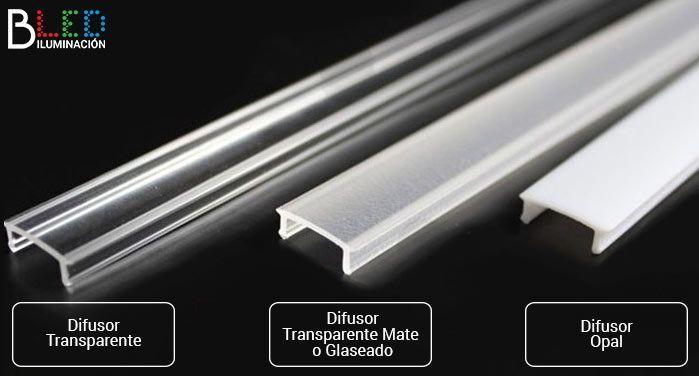 Diferencias entre los difusores para tiras LED