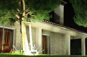 Iluminación fachada proyector de suelo led