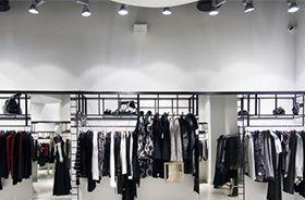 iluminación led para tiendas de ropa