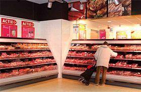 iluminacion led para supermercado sección carnes