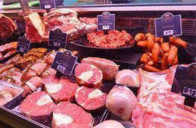 productos realzados con foco proyector led especial para carnes