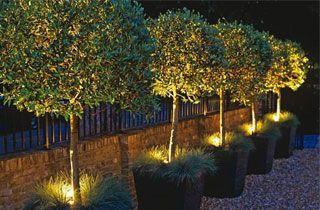 Proyector LED Slim decoración terraza