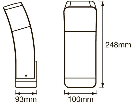 dimensiones apliques exterior