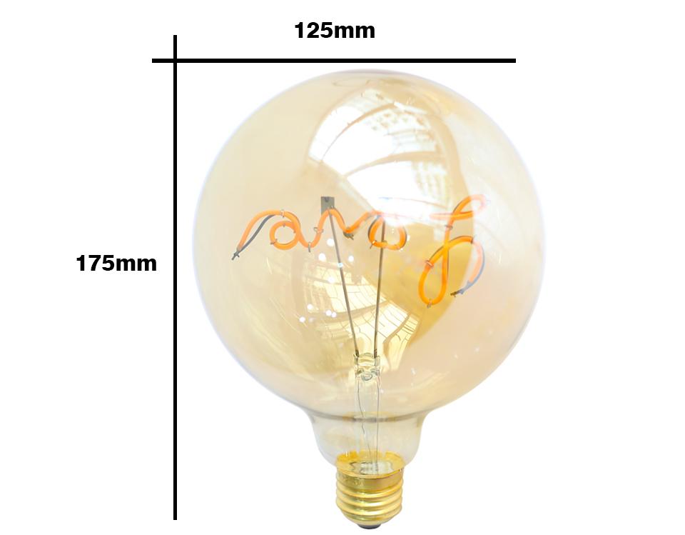 medidas bombillas LED Globo