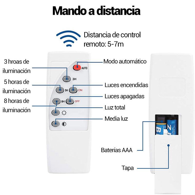 proyector led con mando a distancia