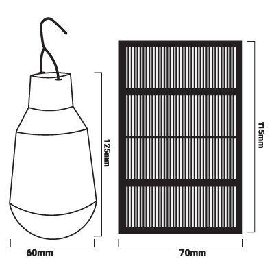 Medidas bombilla solar