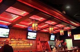 iluminación led roja