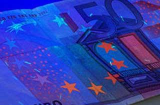 Tira LED UV luz negra autentificación billetes