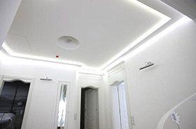 iluminación led con tiras en techos