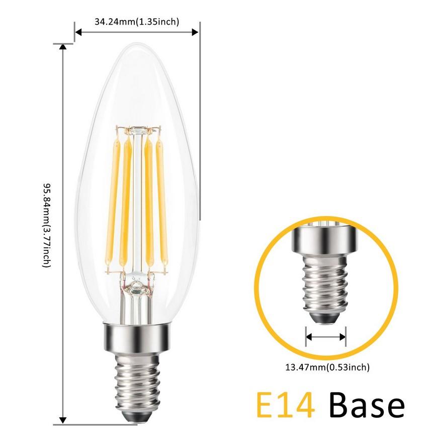 bombillas LED Vela