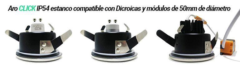 aros compatibles con dicroicas 50mm diámetro