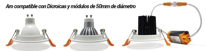 aros compatibles con luces techo led