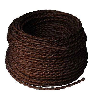 Cable trenzado marrón