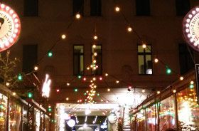 luces de colores para iluminación de la calle