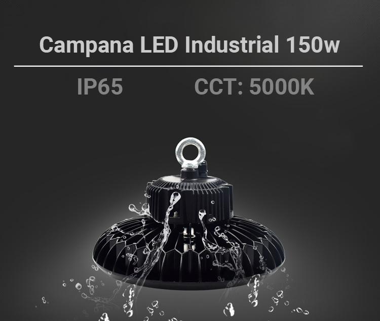 Luminária de LED UFO INDUSTRIAL 150W 20.000LM CHIP SAMSUNG IP65
