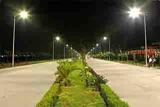 soporte sujeción para poste luminaria vial campos de tennis, pádel