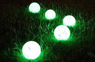 ilumianción exterior jardín
