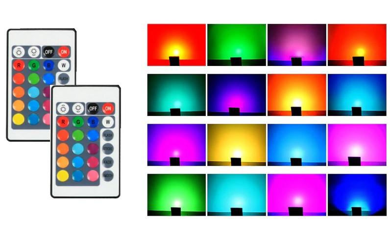 FOCO PROJETOR LED RGB DE 50W IP65 DE ILUMINAÇÃO LED