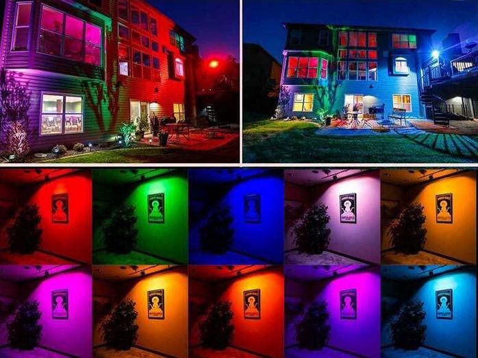FOCO PROJETOR LED RGB DE 50W IP65 PARA TODOS OS AMBIENTES