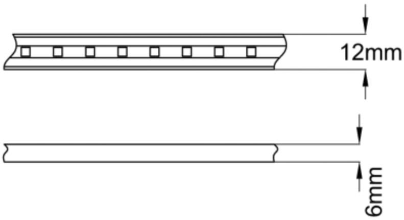 Fita de led de 220V sem transformador, para ligação direta à corren te elétrica