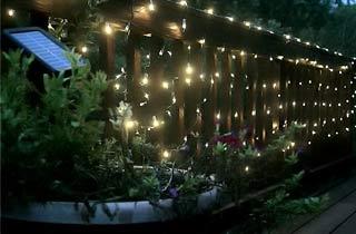 Guirnalda LED solar patio