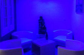 zona zen iluminación azul