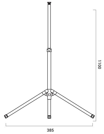 trípode proyector led