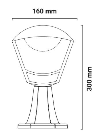 lampara de pie exterior