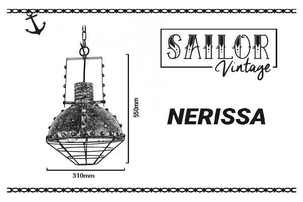 medidas de la lámpara marinera nerissa