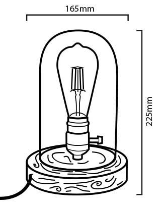 Lámpara LED Tule de cristal, la Bella y la Bestia