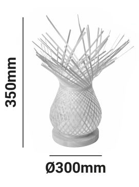 lámpara de mesa medidas