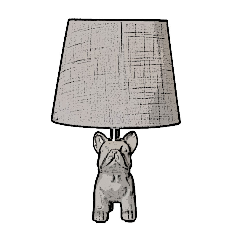 lámpara de mesa perro medidas