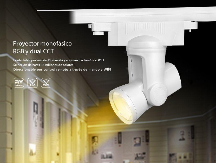 Acheter projecteur monophasé et motorisé milight rgbw w wifi et rf