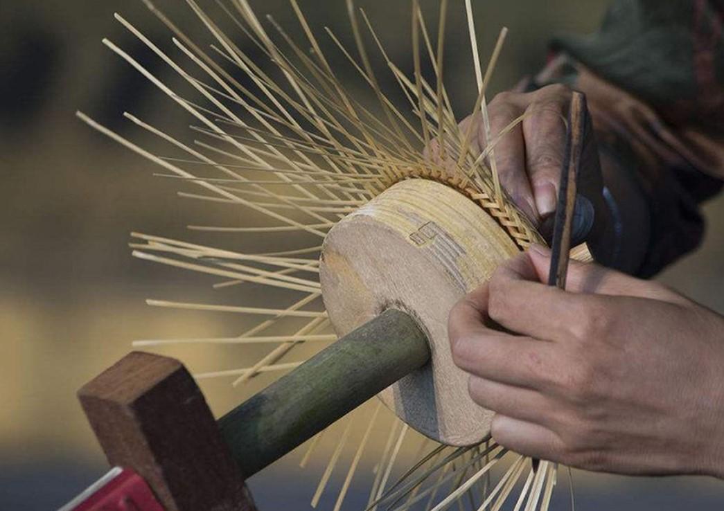 creación de lámpara mimbre