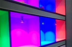 muestrario luces de colores led