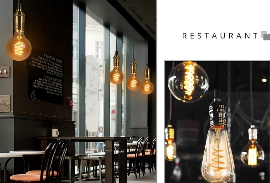 bombillas vintage restaurante