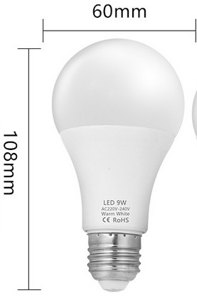 medidas bombilla LED E27