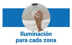 iluminación en cada zona