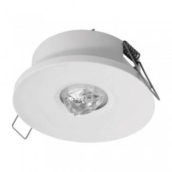 Luz de emergência LED encastrável AXP 120lm IP20