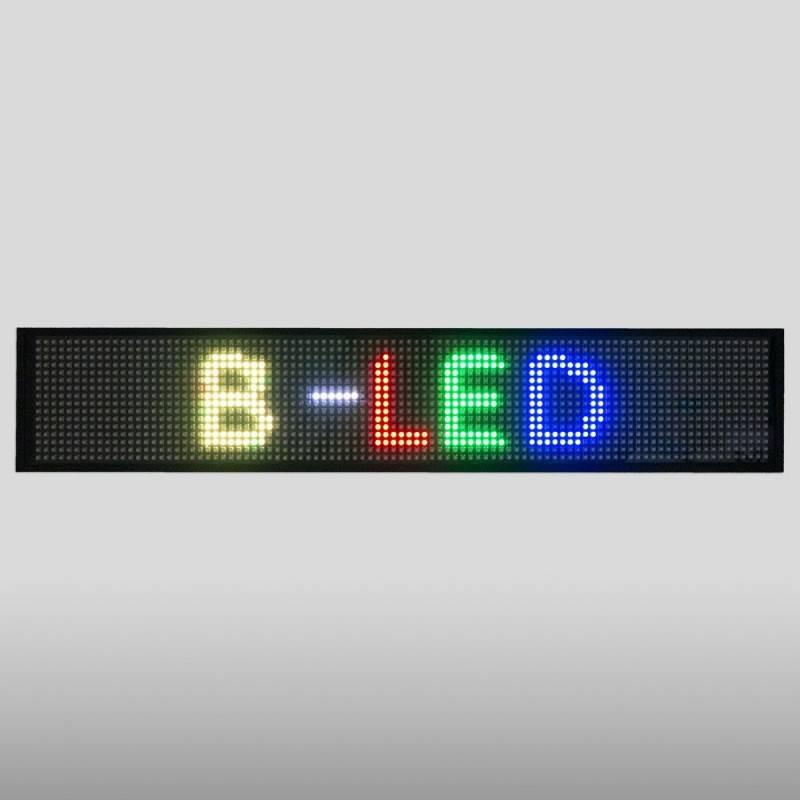 Letreiro LED programável RGB 50x9,5cm WIFI / USB
