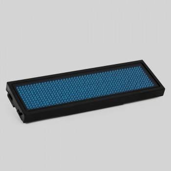 Letreiro LED programável distintivo portátil monocor 9,3x3cm