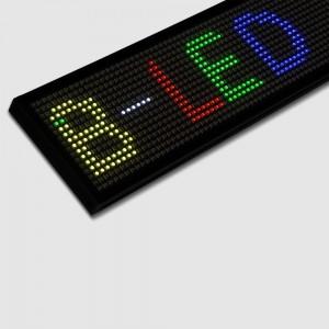 Letreiro LED programável RGB 130x9,5cm WIFI / USB