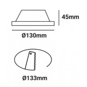 Aro LED downlight de gesso encastrável GU10